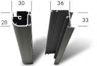 Drehtür Profilabmessungen