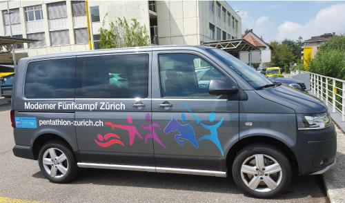 VW T5 Beschriftung Konturenschnitt und Digitaldruck