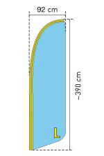 Beachflag Groesse L 390 cm