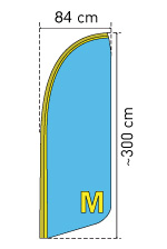 Beachflag Groesse M 300 cm
