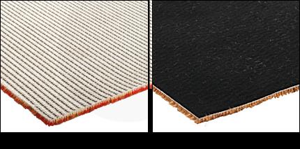 Teppichrücken Flies oder Textil