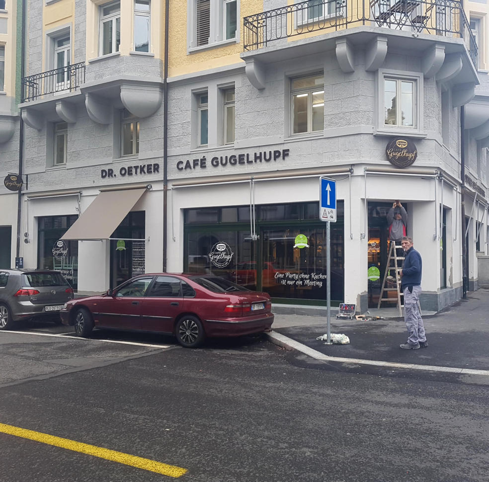 3D - Fassadenbuchstaben, Produktion und Montage BlackStone Werbetechnik Luzern