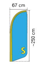Beachflag Groesse S