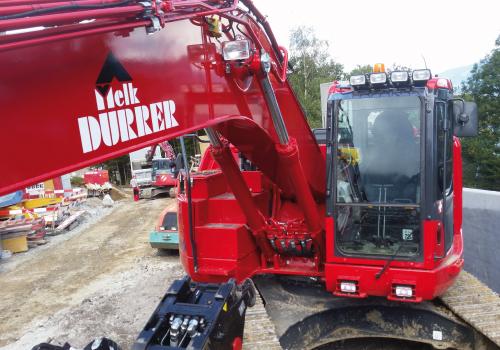Baumaschinen Beschriftung Melk Durrer AG