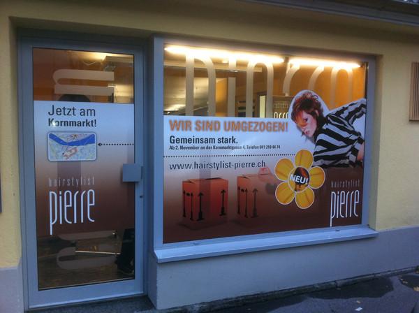 Schaufensterbeschriftung in Luzern