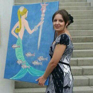 Die Künstlerin Daniela Kunze-Seyfarth
