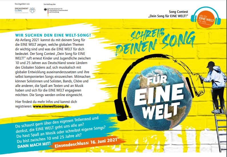 """Jurymitglied bei """"Eine Welt Song"""""""