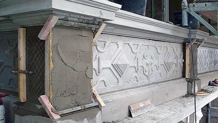 Balkonanlage 2. OG während der Rekonstruktionsarbeiten