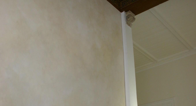 Wandfläche mit KEIM Lasur auf Sol-Silikatbasis