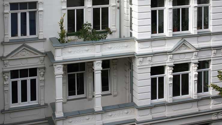 Detailansicht der Balkonbrüstung