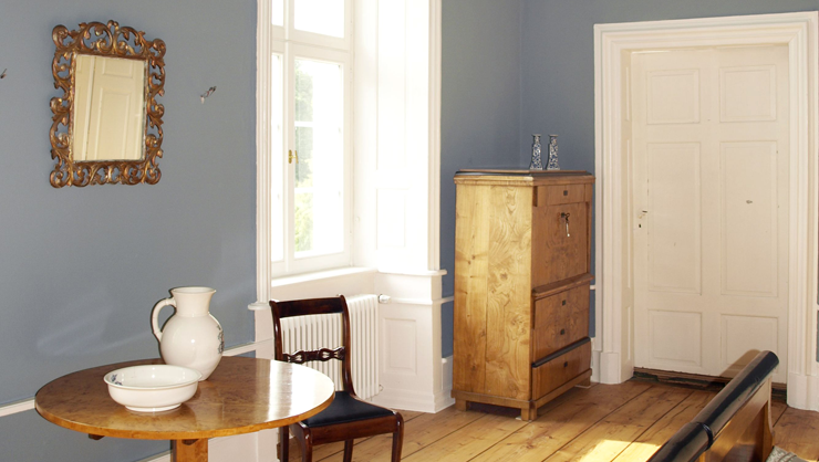 Wandflächen in Kreide Emulsion Ganga eines Gästezimmers