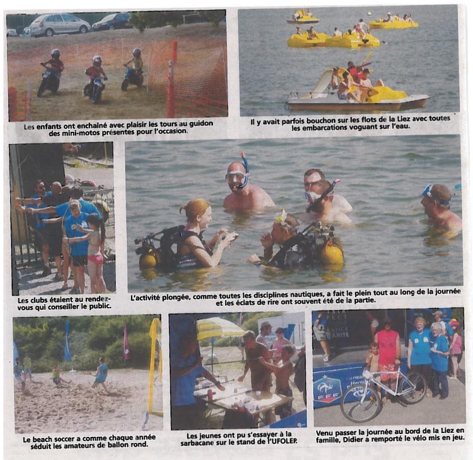 Photos parues sur une page du Journal. Toutes les activités ont passionné le public.