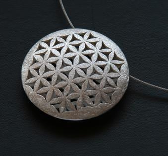 Die Blume des Lebens Gold Silber Schmuck Anhänger