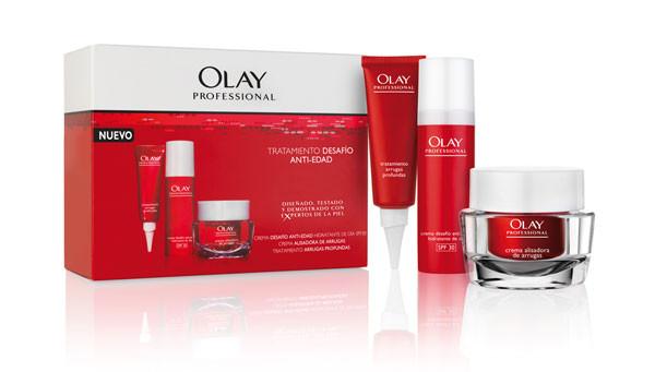 Productos de la firma de cosméticos OLAY PROFESSIONAL