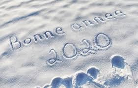bonne année 2020 neige