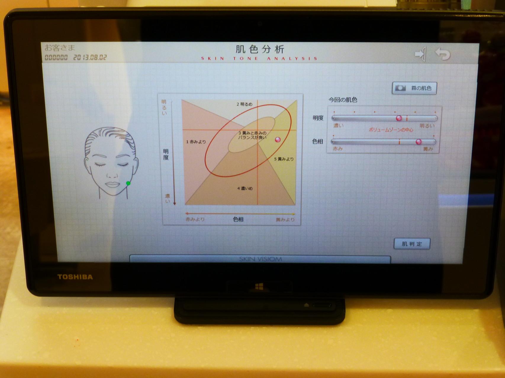 資生堂の最新肌測定器スキンビジオムⅢです。