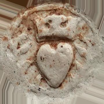 Hart in krans