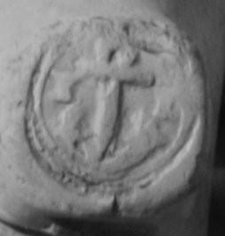 Hielmerk Anker met aan weerszijden initialen I en I