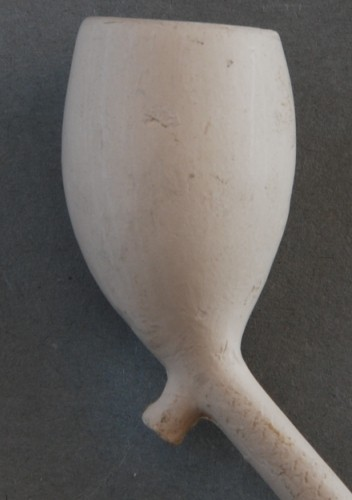 Cat nr 417 Stompe Tonnetjeskleinkop, steellengte ca 17,5 cm, ES hielmerk, Kop iets minder dan 4 cm hoog