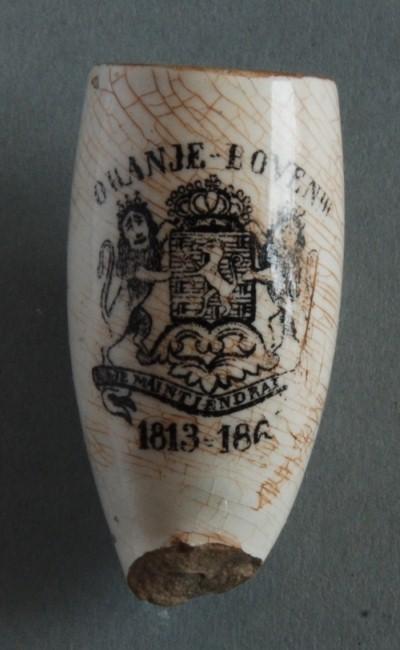 """""""ORANJE BOVEN"""" en 1813 - 186 (?). Waarschijnlijk te gelegenheid van de proclamatie in 1813 waarin de terugkeer van het Oranje geslacht in Nederland wordt aangekondigd"""