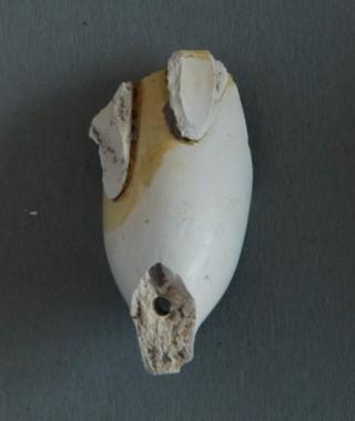 Gevonden in Gouda, vastgebakken door glazuurresten