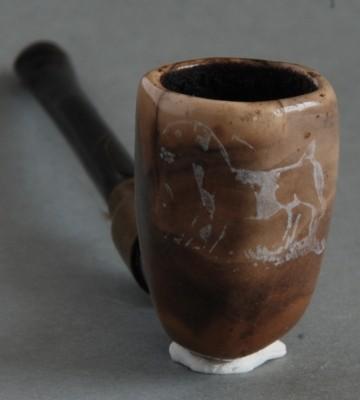 Goedewaagen Gouda, afbeelding van geit of schaap, tekst TIP TOP op steel