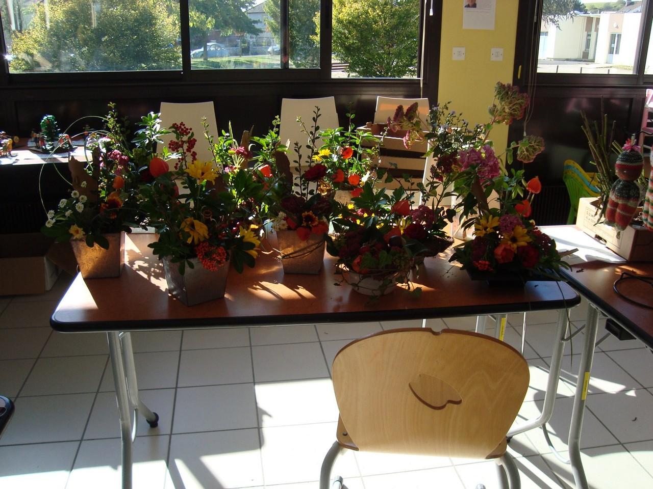 Compostions florales exposées lors de la BLE
