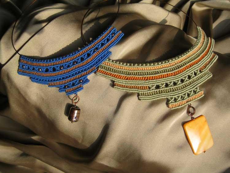 """collane in macramè serie """"Cleopatra"""""""