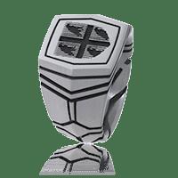 Siegelring Transformer in Edelstahl mit persönlichen Wappen