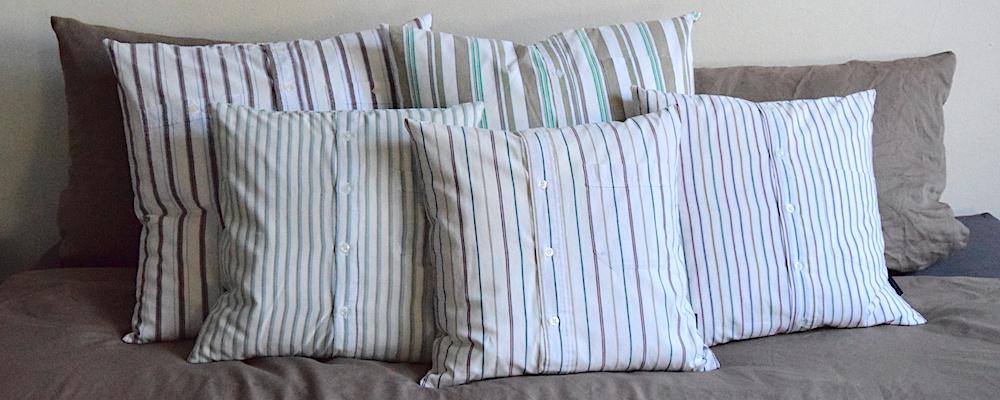 Hemdkissen mit Streifen