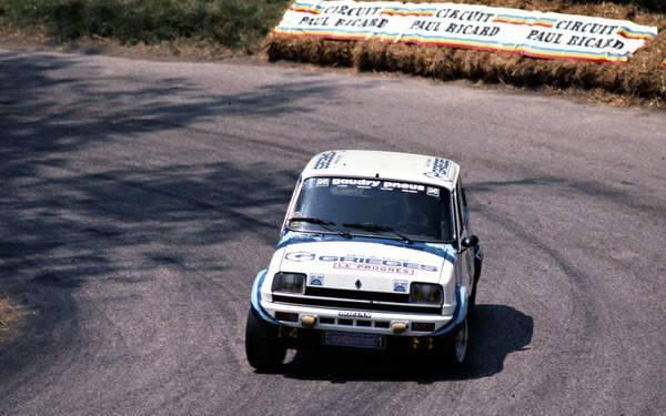 Jacky Gambin en 1982 : Renault 5 Alpine groupe 2