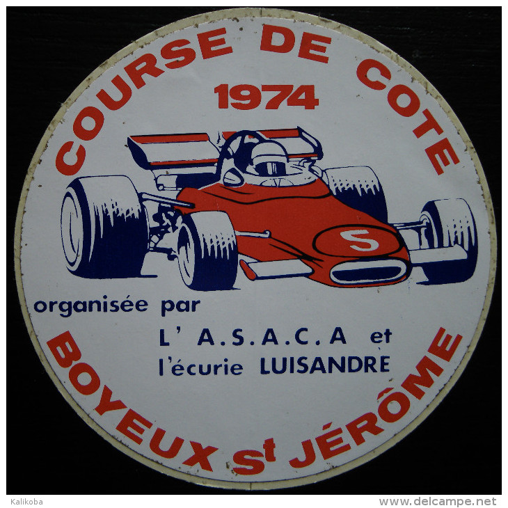 "Le ""sticker"" de la course de  1974 (la seconde édition de l'épreuve)"