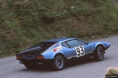 Bernard Degout en 1978 : De Tomaso Pantera groupe 3