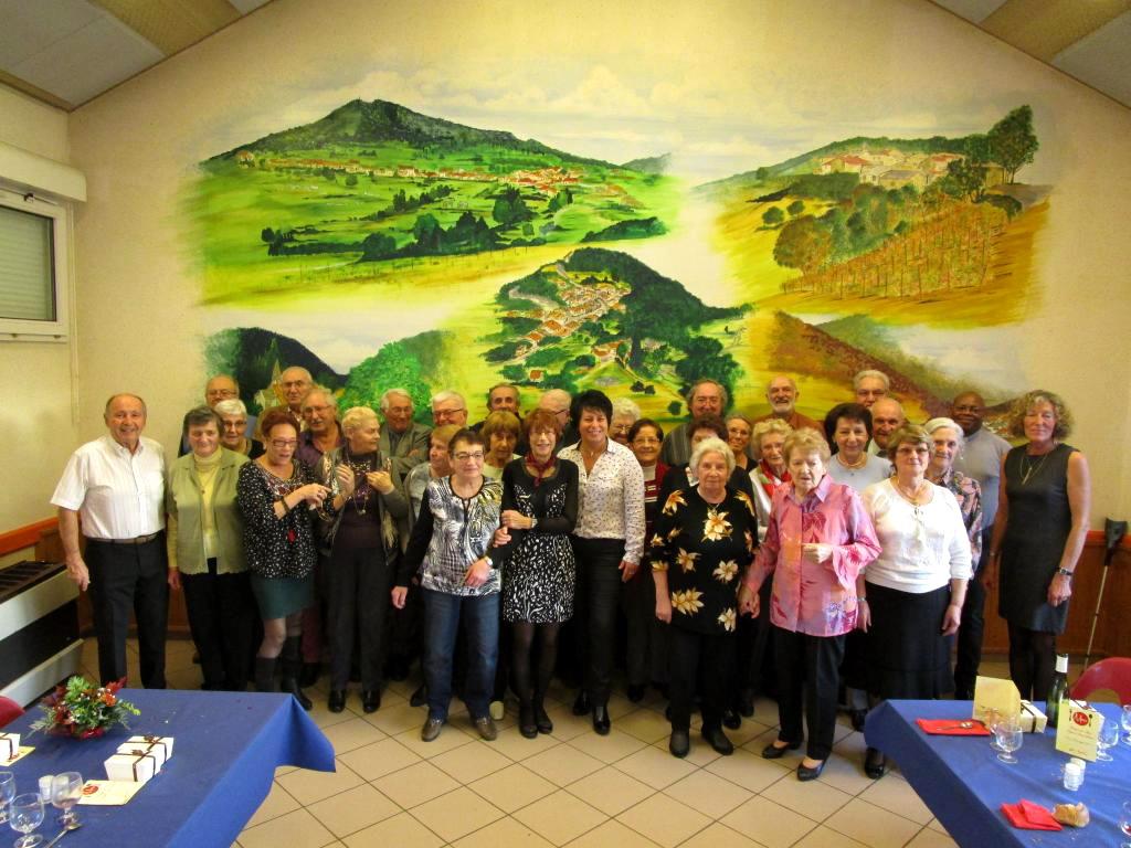 Repas des aînés, organisé par le  CCAS et la municipalité, édition 2016 - la photo de groupe