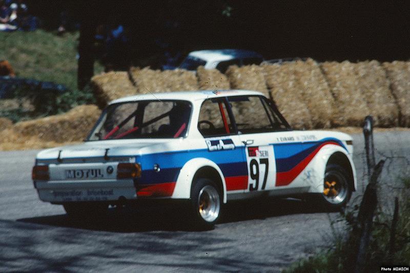 Yves Evrard en 1977 : BMW 2002 groupe 2