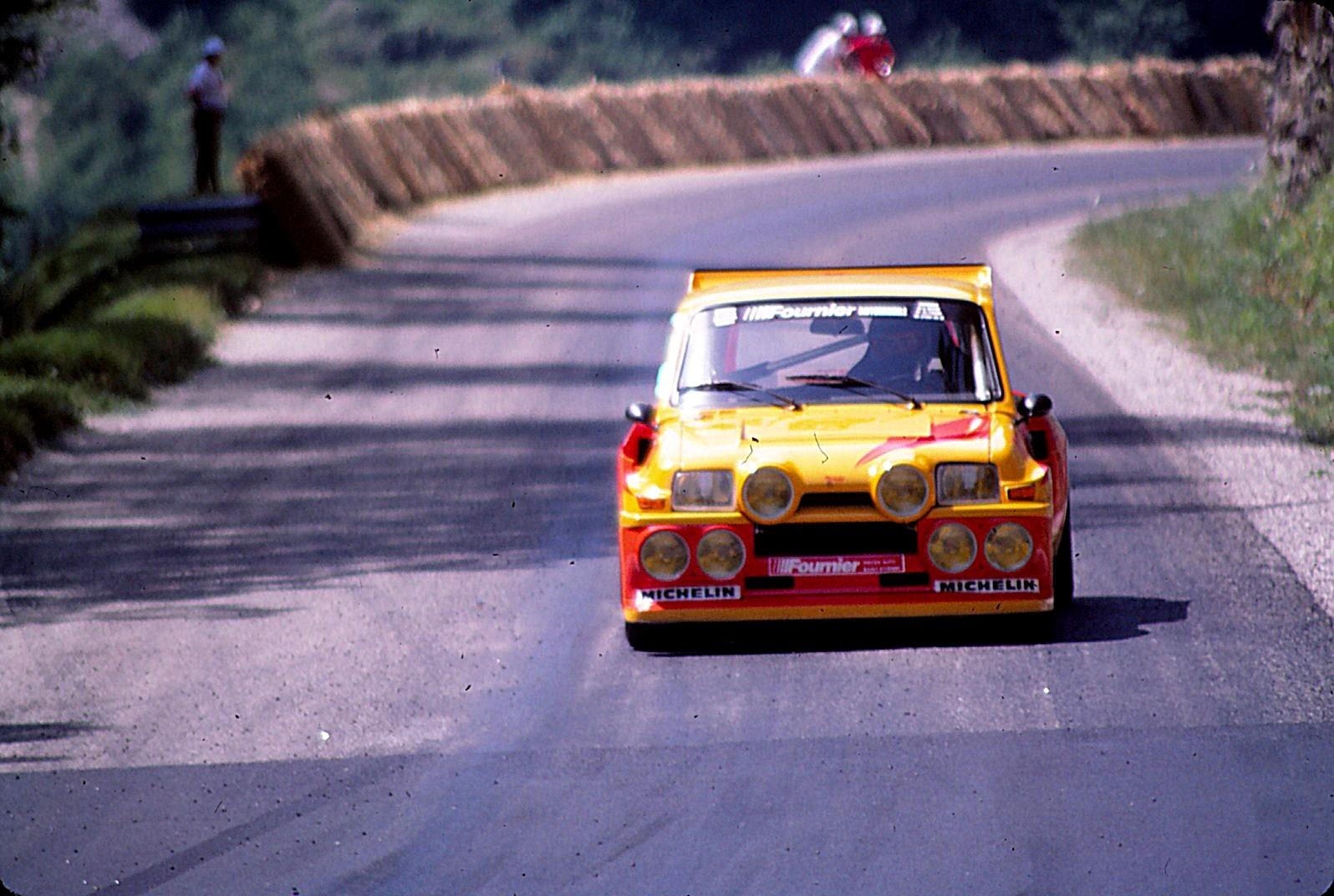 "Gérard Paquet en 1985 : Renault 5 Turbo ""Maxi"" groupe B"