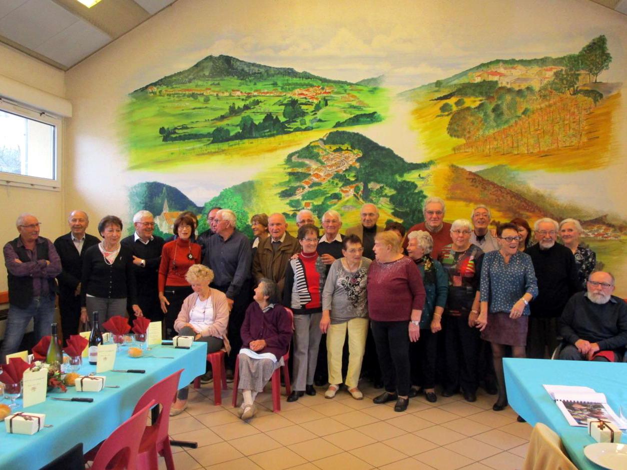 Repas des aînés, organisé par le  CCAS et la municipalité, édition 2018 - la photo de groupe