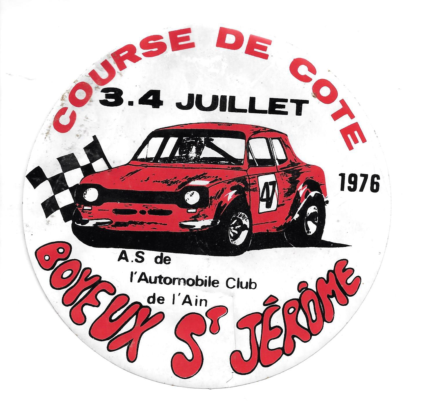 """Le """"sticker"""" de la course de  1976 (la  quatrième édition de l'épreuve)"""