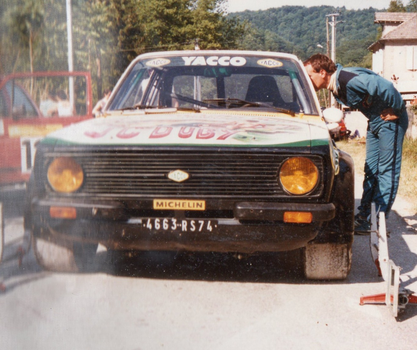 Jean Christian Duby en 1984 : Ford Escort  RS Mk2 Groupe B