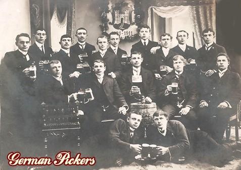 AK Studentenfest Bierkrüge 1915