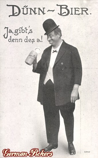 AK Dicker Mann mit Krug - Dünnbier