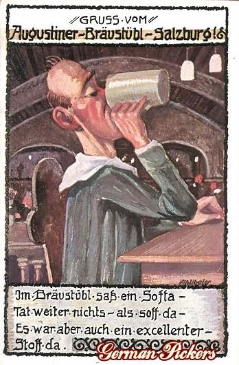 AK Augustiner Braustübl Salzburg Brauerei
