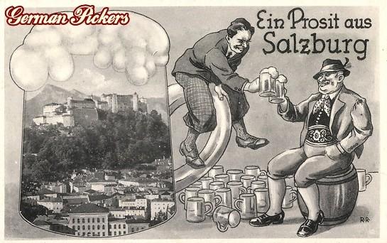 AK Ein Prosit aus Salzburg Bier