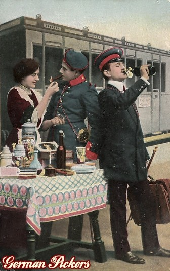 AK Reservisten Abschied. Bier und Wurst - Kellnerin