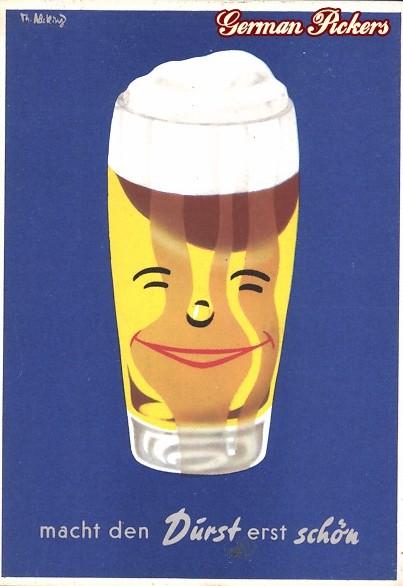 AK Lachendes Bierglas - Bier macht den Durst erst schön
