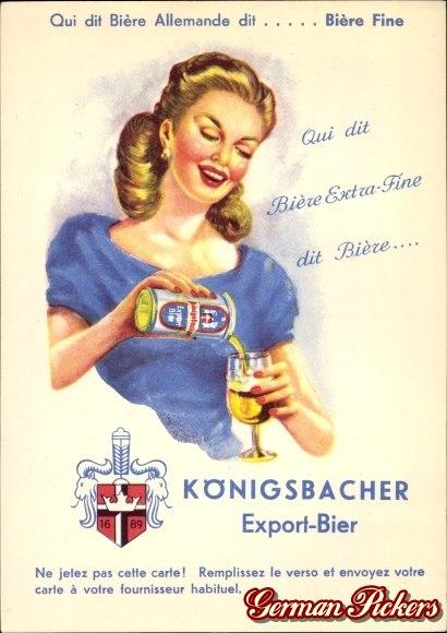 Königsbacher Bräu / Brauerei Ansichtskarte  Königsbacher Export  Qui dit Biere extra-fine dit Biere...