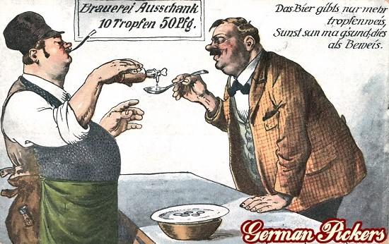 AK Das Bier gibt nur mehr tropfenweis, sonst san ma gsund - dies als Beweis