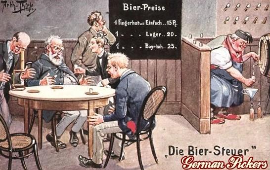 AK Arthur Thiele - Wirtshaus - Die Bier Steuer