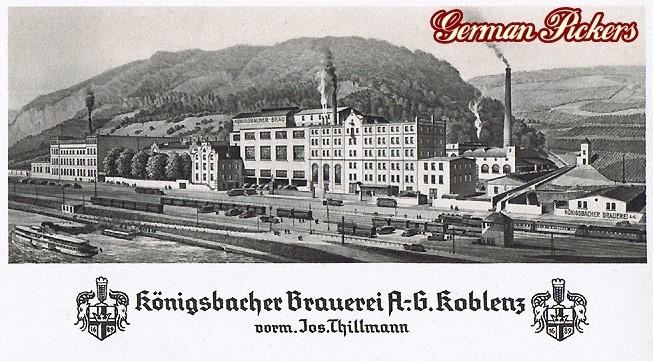 AK / Foto - Ansicht der Königsbacher Brauerei Koblenz