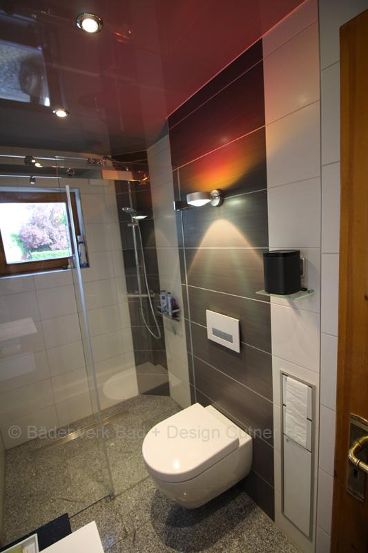 Beispiel eines kleinen Duschbades